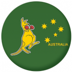 Kangaroo 25mm Pin Button Badge